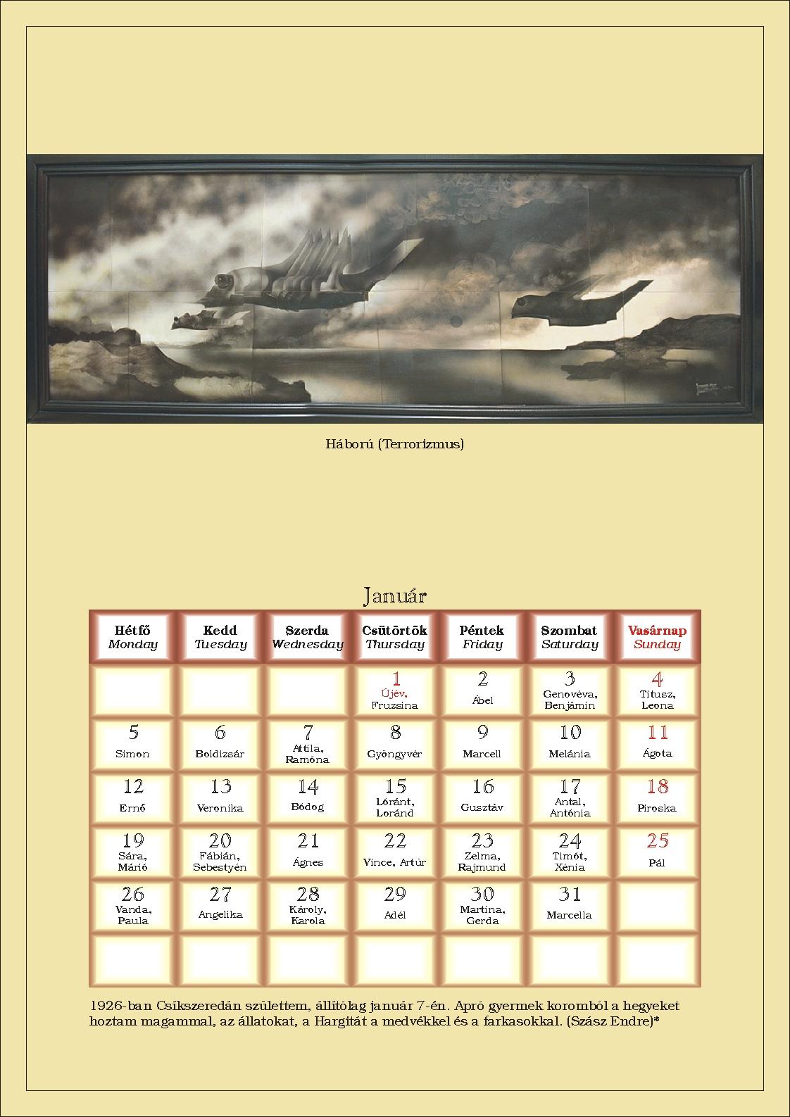 2009 januári naptár Egyedi fejléces nyomtatványok mesterfokon a Siklósi Nyomdától! 2009 januári naptár